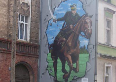"Mural ""Ułan na Koniu"""