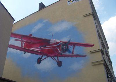 "Mural ""Dwupłatowiec"""