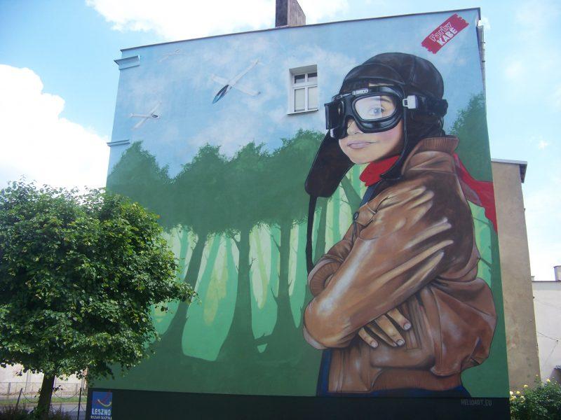 """Mural """"Chłopiec i Szybowce"""""""