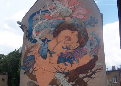 """Mural """"Dąbrówka"""""""