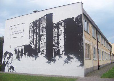 """Mural """"Zburzenie kościoła pw. św. Szczepana"""