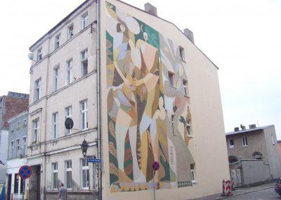 """Mural """"Adam i Ewa"""""""