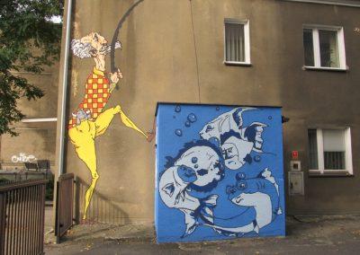 """Mural """"Łowca Talentów"""""""
