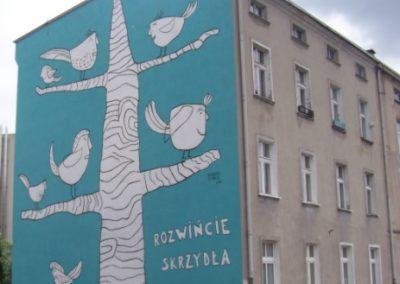 """Mural """"Rozwińcie skrzydła"""""""